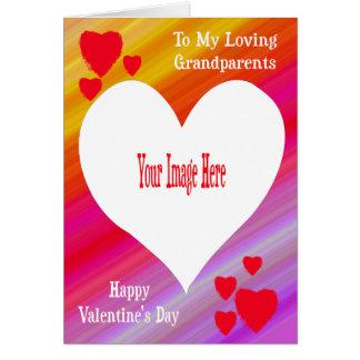O cartão dos namorados da foto para avós