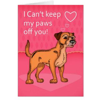 O cartão dos namorados de Terrier de beira