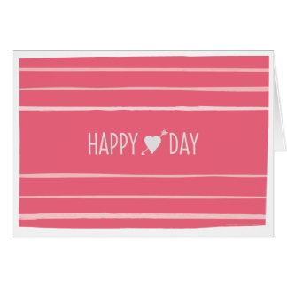 O cartão dos namorados felizes do dia do coração