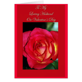 O cartão dos namorados para o marido