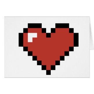O cartão dos namorados personalizados pixel do