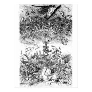 O cartão dos Rops de Felicien do vintage das