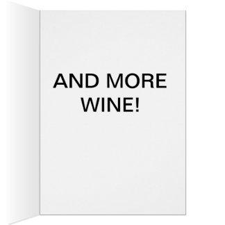 O cartão engraçado, AllI quer para o Natal é vinho
