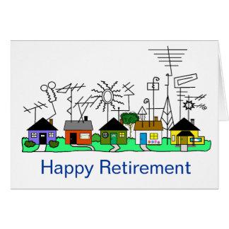 O cartão feliz do radioamador da aposentadoria   p