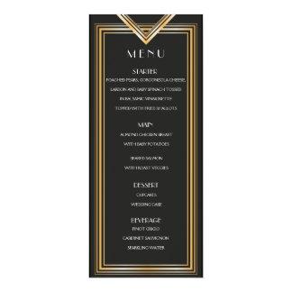 O cartão | Gatsby do menu do art deco 20s inspirou