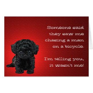 O cartão inocente do filhote de cachorro