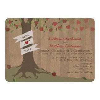 O cartão inspirou o convite de casamento do pomar