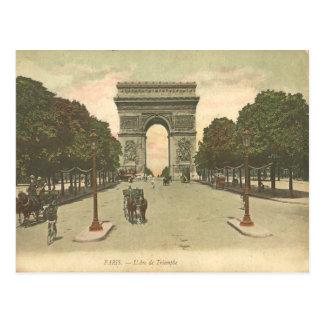 O cartão l'Étoile do vintage de Arco do Triunfo de