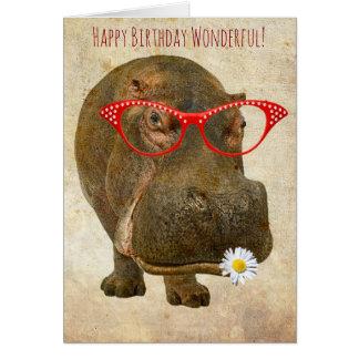 O cartão o mais bonito do hipopótamo!