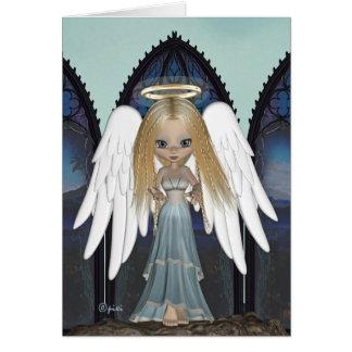 O cartão o mais doce do anjo