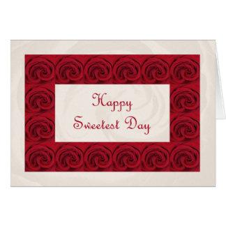 O cartão o mais doce do poema do dia -- Rosas