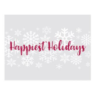 O cartão o mais feliz dos feriados da empresa