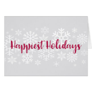 O cartão o mais feliz dos feriados da neve da
