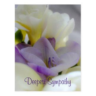 O cartão o mais profundo da simpatia