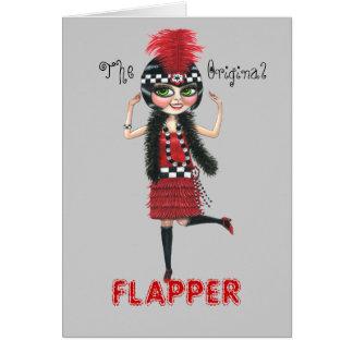 O cartão original dos anos 20 rujir do Flapper