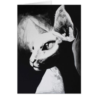 O cartão original felino da arte do gato de Sphynx