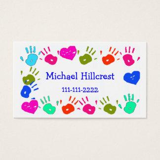 O cartão telefónico colorido das crianças