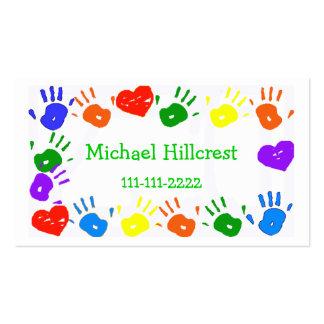 O cartão telefónico colorido das crianças modelo de cartões de visita