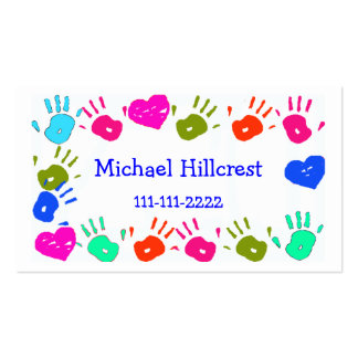 O cartão telefónico colorido das crianças cartão de visita