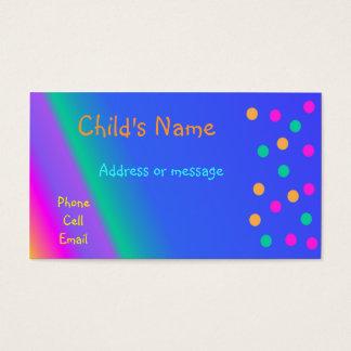 O cartão telefónico das crianças brilhantes