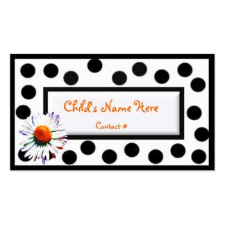 O cartão telefónico das crianças cartoes de visitas