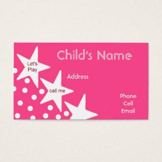 O cartão telefónico das crianças das estrelas