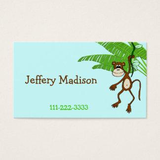O cartão telefónico das crianças do macaco