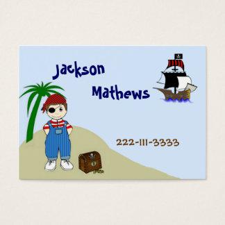 O cartão telefónico das crianças do pirata