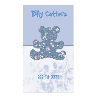 O cartão telefónico das crianças do urso de cartão de visita