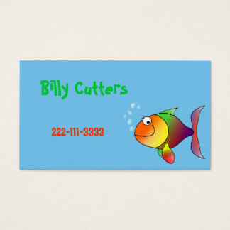 O cartão telefónico das crianças dos peixes dos