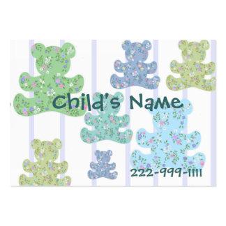 O cartão telefónico das crianças dos ursos de cartão de visita grande
