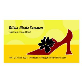 O cartão telefónico do amante dos calçados cartão de visita