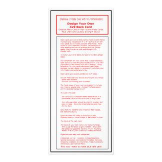 O cartão Template1 da cremalheira da série 4x9 do  Panfletos Informativos