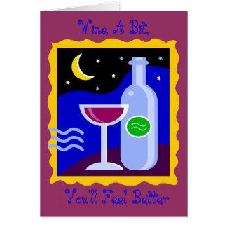 O cartão vazio, Wine um bocado, você sentirá