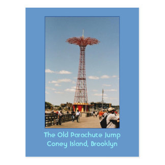 O cartão velho do salto de pára-quedas (Coney