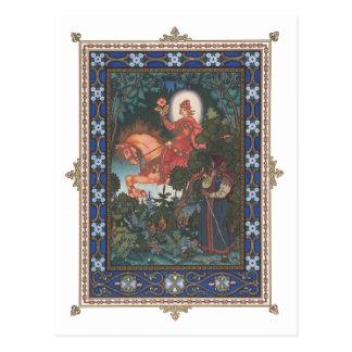 O cartão vermelho do Folktale do russo do