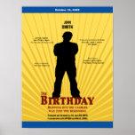 O cartaz cinematográfico do aniversário (menino) posteres
