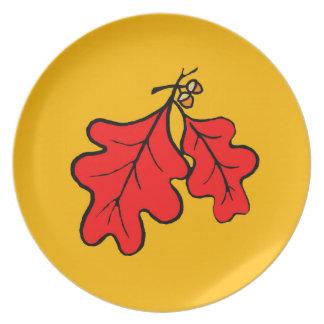 O carvalho sae da placa da melamina louças de jantar