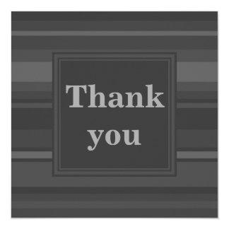 O carvão vegetal listra cartões de agradecimentos