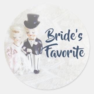 O casal bonito favorito da noiva das etiquetas do