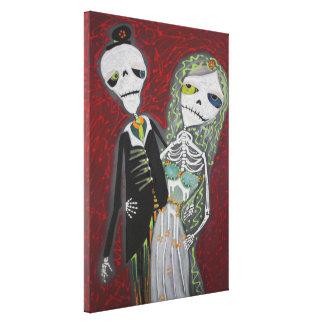 O casal/Diâmetro Wedding De Los Muertos/envolveu