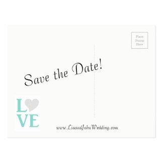 O casal feliz nós salvar os cartão da data