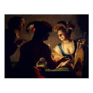 O casamenteiro - Gerrit Van Honthorst Cartão Postal