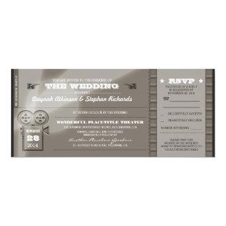 O casamento da premier do filme Tickets convites Convite 10.16 X 23.49cm