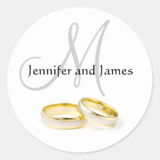O casamento de dezembro nomeia a etiqueta do adesivo