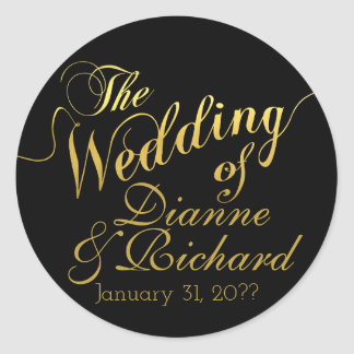 o casamento… de nossos nomes adesivo