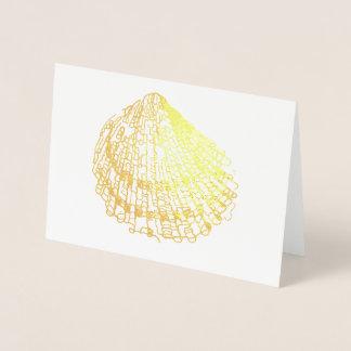 O casamento de praia Shell carda o cartão do