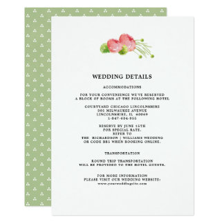 O casamento detalha cartões florais da aguarela de