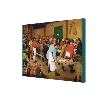 O casamento do camponês por Pieter Bruegel a