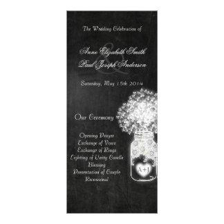 O casamento do frasco de pedreiro do quadro 10.16 x 22.86cm panfleto